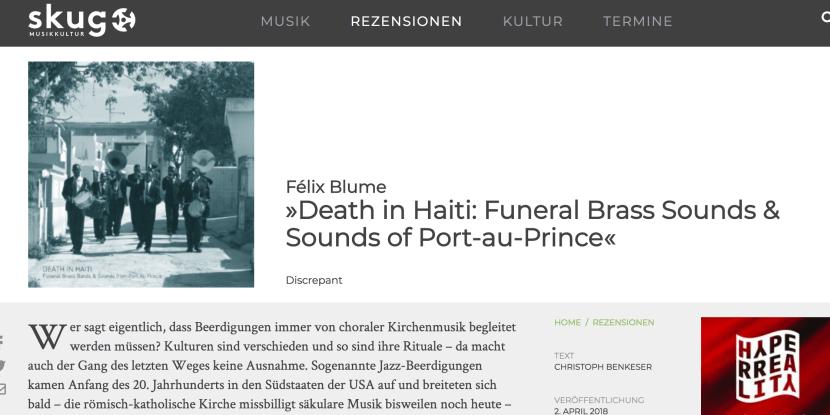 Skug Felix Blume Death Haiti