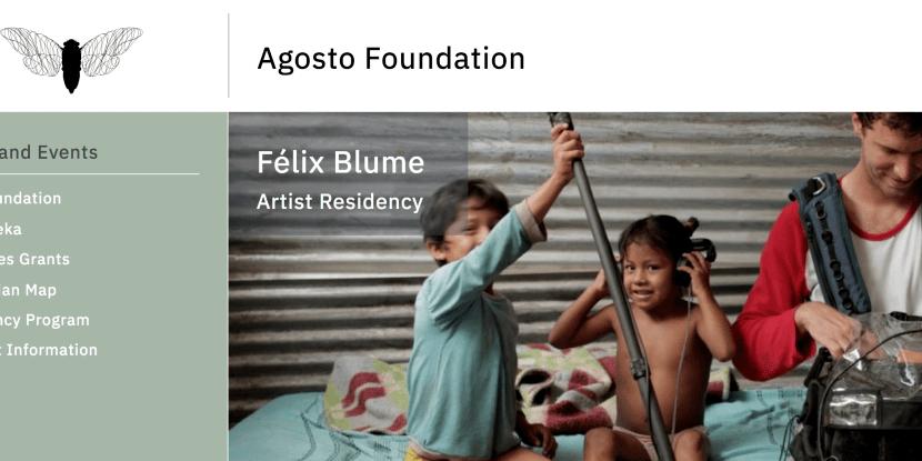 Agosto Foundation Felix Blume